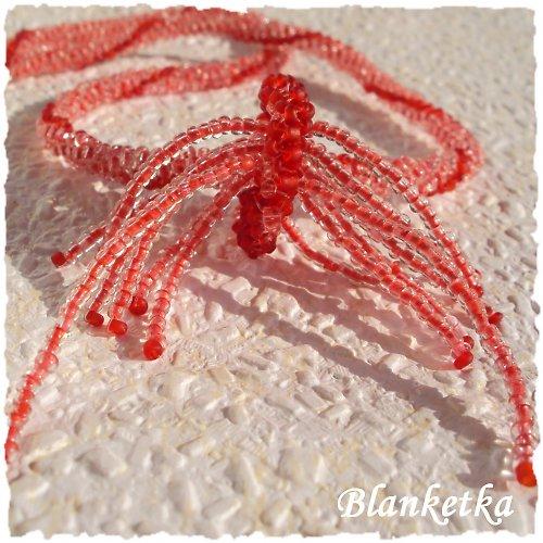 Růžový vodopád 3D...náhrdelník