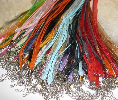 Šňůrka s organzou - široká paleta barev