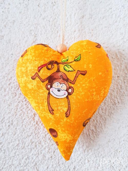 Srdíčka - veselé opičky...