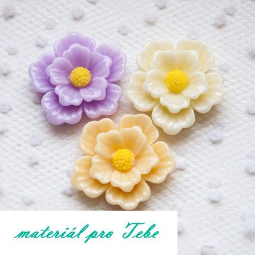 Mix květů (27mm) - 3 ks
