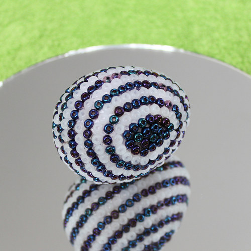 Velikonoční vajíčko od skleněného kohouta 06