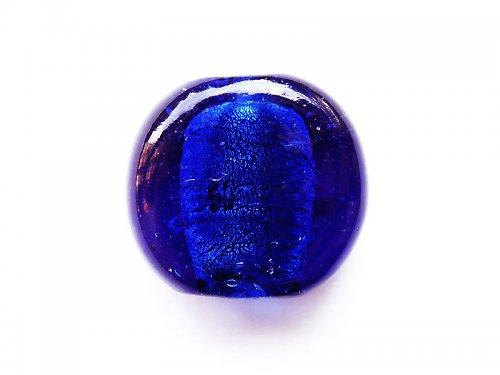 Tmavě modrý plochý kulatý ((V29))