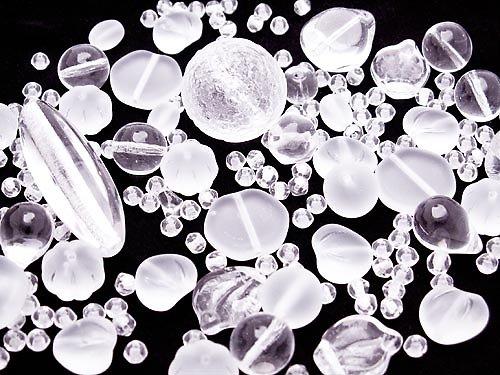 Krystalová směs - ramš (mačkané korálky)