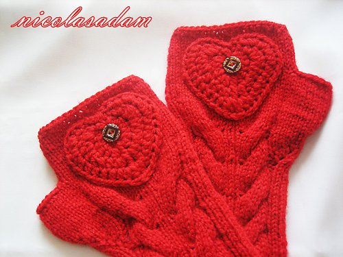 Rukavičky valentýnské sexy červené