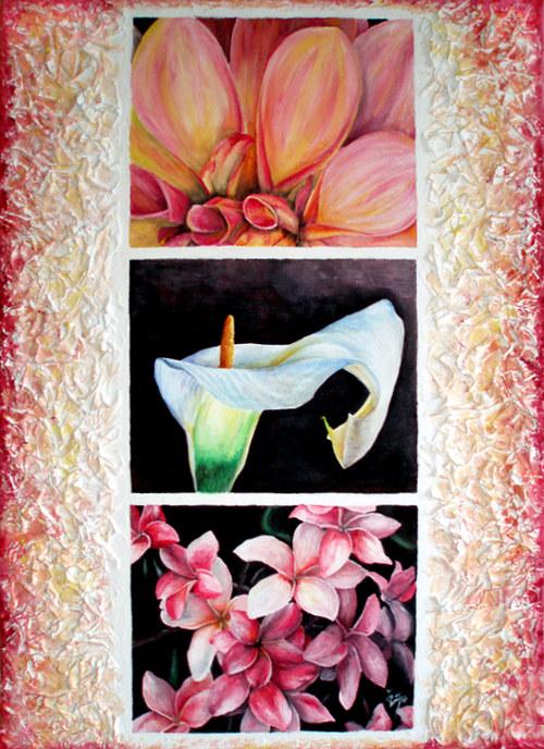 Květy - plastický okraj
