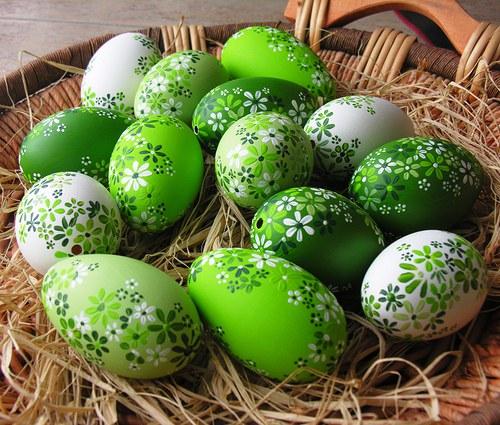 Husí kraslice zelené