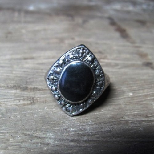 Tibetské stříbro - černý smalt 2