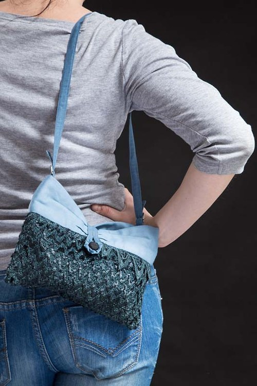 kabelka modrá bouřková - sleva!