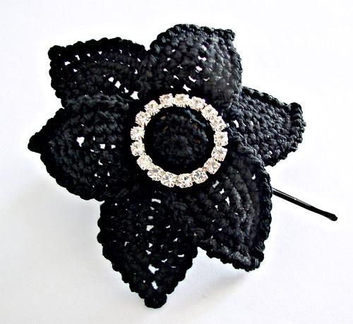 Sponka... Štrasový květ