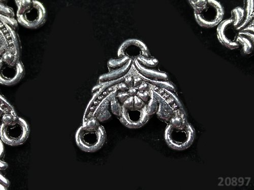 20897 Ramínko tibetské stříbro 14/15,bal.  2ks