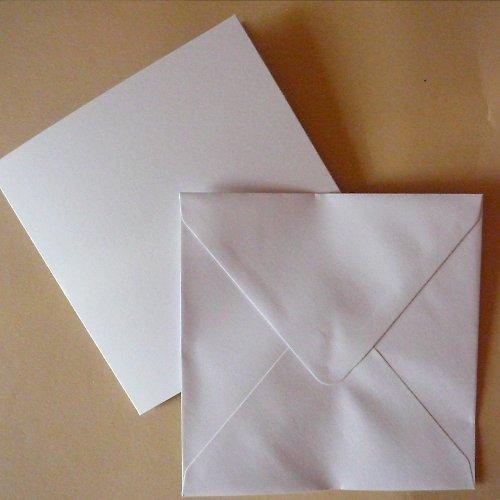 Čtvercová obálka a přání 13,5x13,5 cm 5 ks