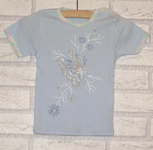 Baby tričko motýlkové  /74/