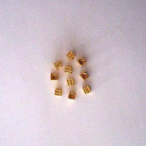 Kovodíl - 5x4 mm - barva zlatá