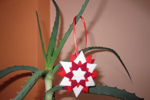 Plsťová hvězdička nejen na Vánoce