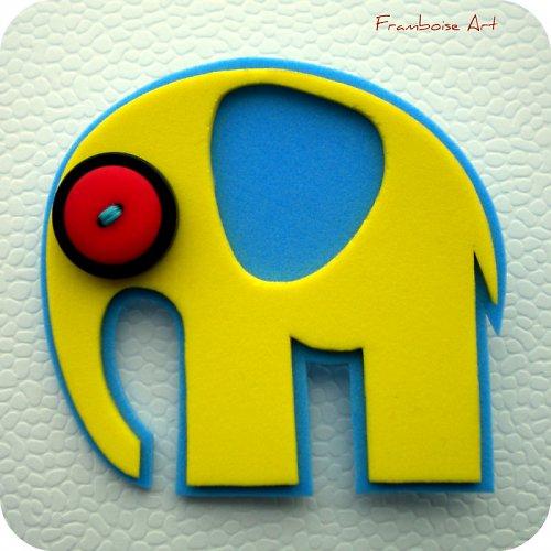 Žluto modrý slon