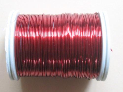 drátek 0,6 mm tmavě červená barva