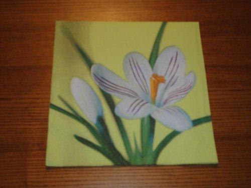 Ubrousek na decoupage - lilie