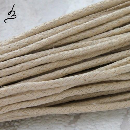 Bavlněná šňůrka 2 mm béžová