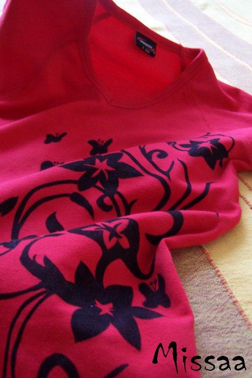 """Červené tričko \""""Jarní inspirace\"""" - SLEVA"""