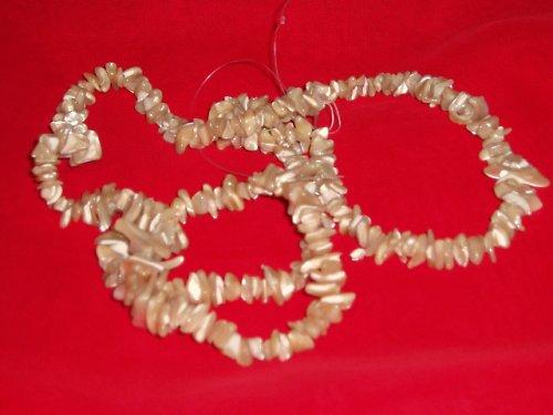 300 ks - 90 cm -Perleťové zlomky-korálky-tmavá