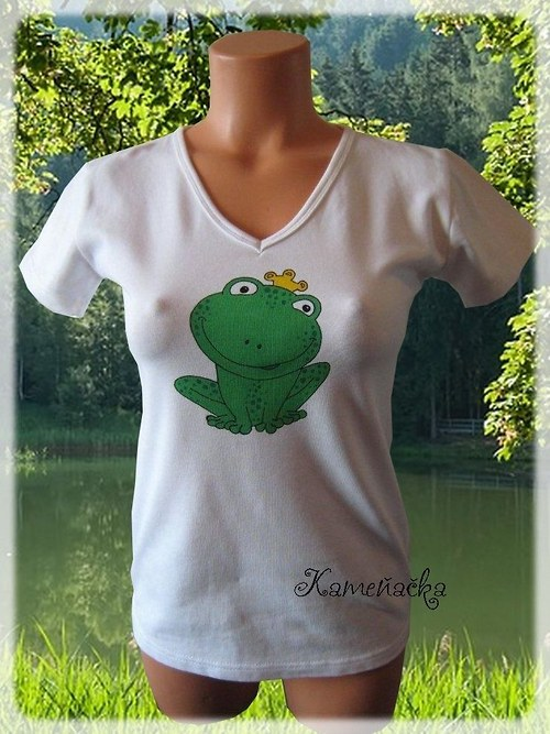 Dámské tričko s žabkou