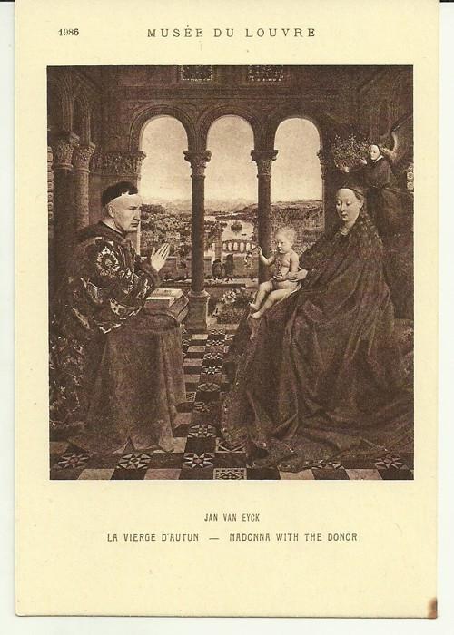 Umělecká pohlednice Jan Van Eyck