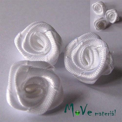 Růžička saténová bílá Ø20mm, 10kusů