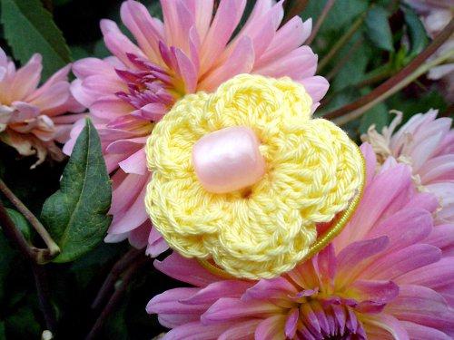Gumička - Květina do vlásků