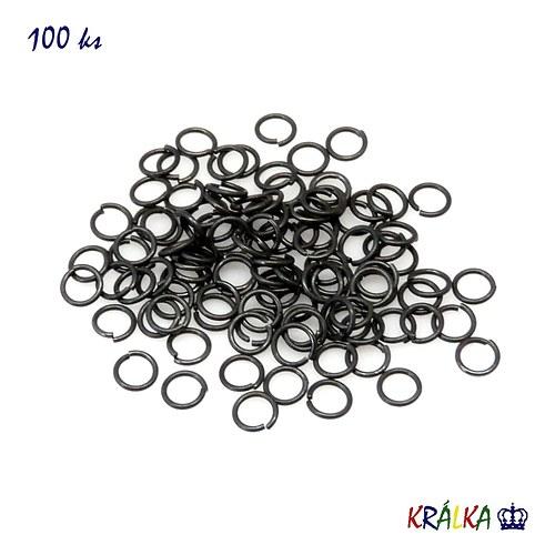 Spojovací kroužek 5 mm černý
