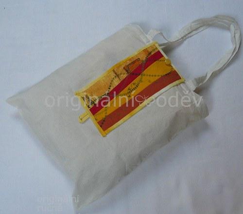 nákupní taška sbalená v patchworku-15 - ZLEVNĚNO