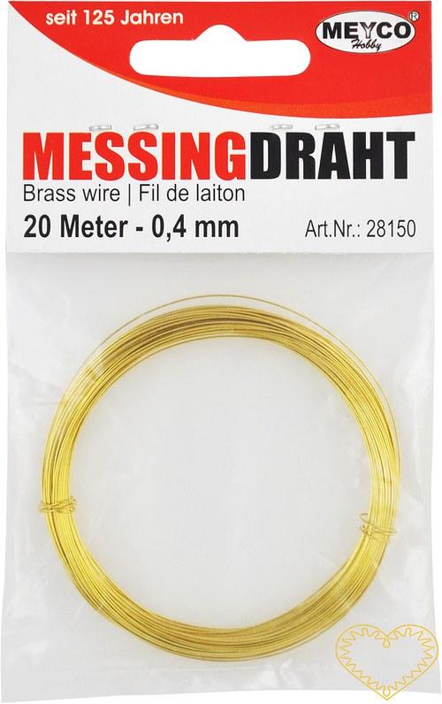 Zlatý drátek - ø 0.4 mm, délka 20 m