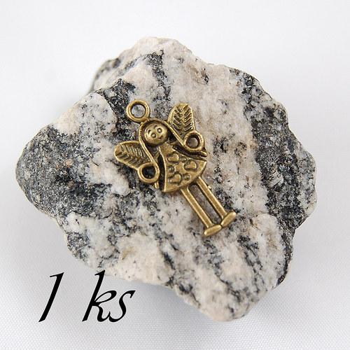 Malá víla bronzové barvy - 1ks