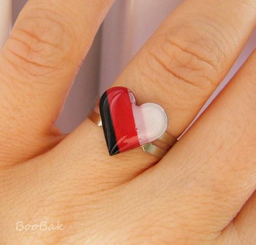 Prstienok šikmý prúžok