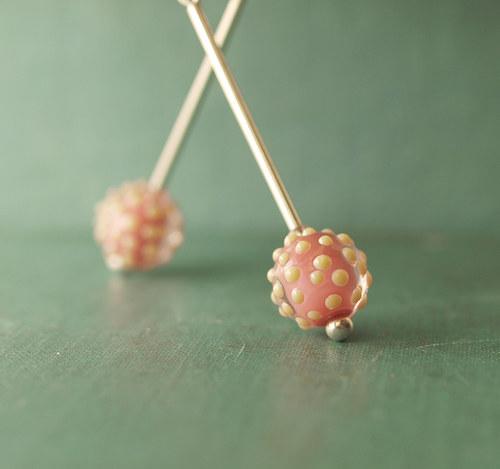 náušnice Sweet dots  © sklo+Ag 925
