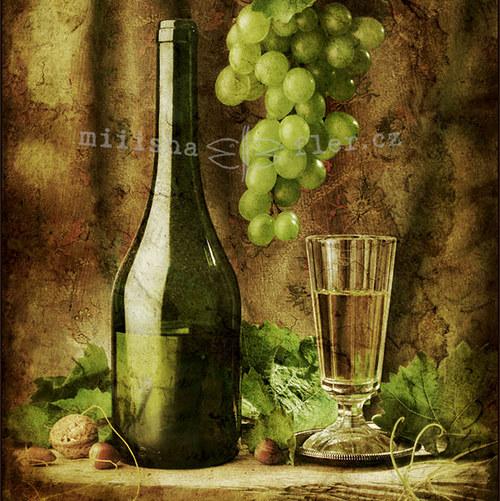 Vintage víno - fotoobrázek