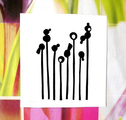 """Květy tak trochu jinak, 4 kusy, 8 \""""květin\"""""""