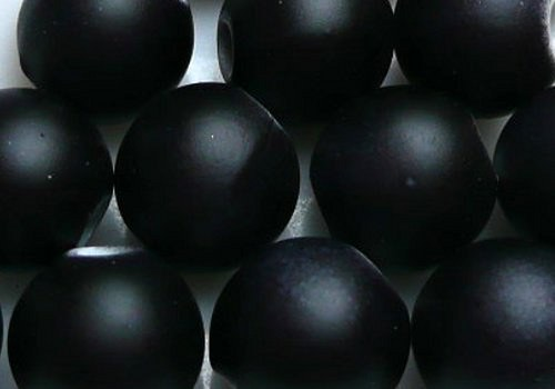 Plastová pogumovaná kulička 10 mm - černá / 4 ks