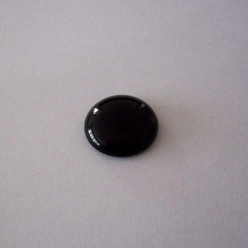 Skleněný kabošon kulatý velký - černý