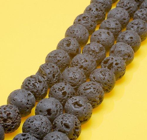 Láva korálek 10mm (2ks) M375