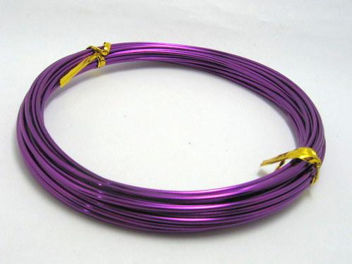 Drát hliníkový - purpurový