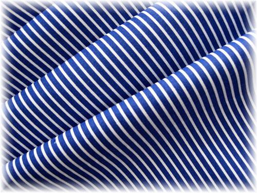 bavlněná látka-tmavě modrý proužek
