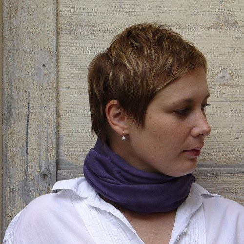 ručně barvený  šátek VEČERNÍ OBLOHA