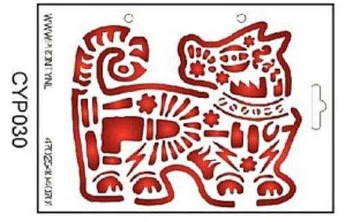Šablona na textil Dragon