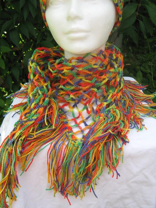 Pestrobarevný šátek