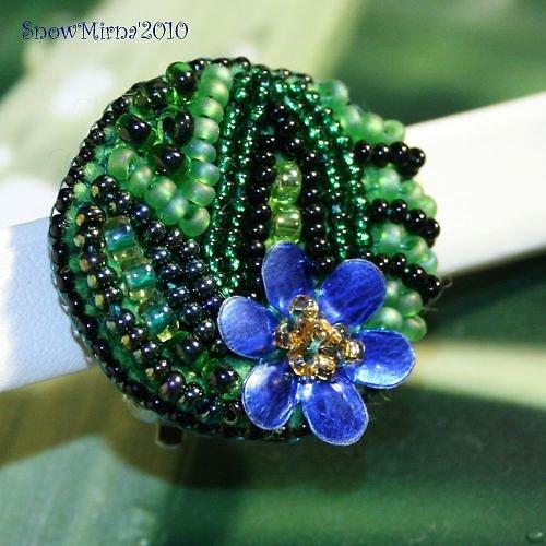 Náušnice - Modrý Crocus
