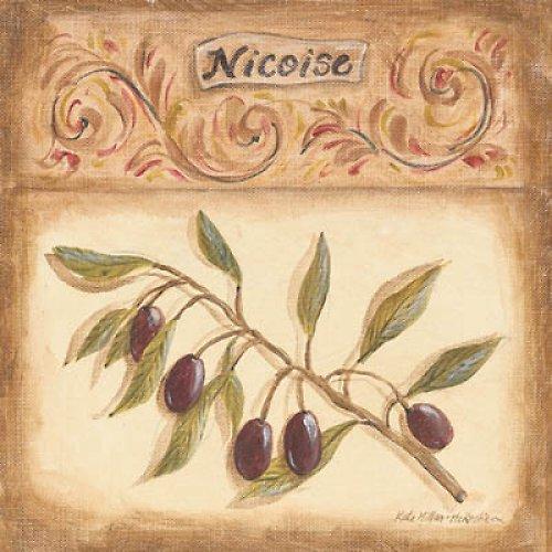 Reprodukce - tisk - oliva nicoise 15x15cm - 9557G