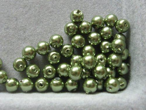 Vosková perla - zelená 5 mm / 20 ks