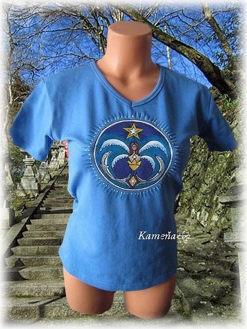 tričko -mandala - Mořská víla