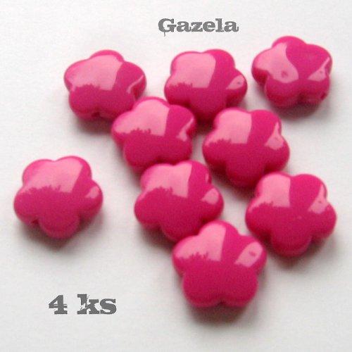 Kytičky tmavě růžové - 4 ks