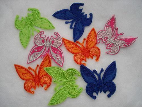 Motýl nášivka